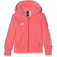 adidas Linear FZ HD Sweatshirt, Mädchen, Linear FZ HD