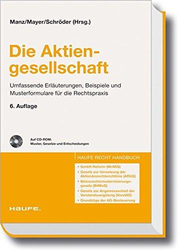 Die Aktiengesellschaft (Haufe Recht-Handbuch)