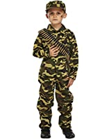 Child Army Military Camouflage Fancy Dress Costume