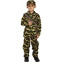 Child Army Military Camouflage Fancy Dress Costume (4-6 years) by Henbrandt