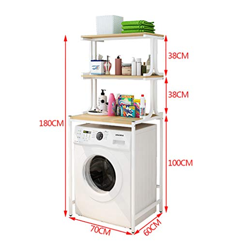 Rttzw ripiano per lavatrice cremagliera in ghisa per lavatrice, balcone, mobile portabiancheria, lavatrice a tamburo, ripiano superiore per ripiano 2 strati 3 strati (dimensioni : 180cm)