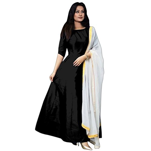 Aarna Enterprise Lehenga Cholis For Girls And Women Party Wear Regular wear (Semi-Stitched) (NAVY BLUE) (BLACK)  available at amazon for Rs.538