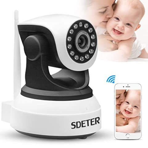 Security Wireless Camera, UOKOO 720P HD Home WiFi Wireless Security Surveillance IP Camera with Motion Detection Pan/Tilt, 2 Way Audio and Night Vision Baby Monitor, Nanny Cam