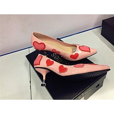 Lvyuan-ggx Chaussures Heels Club Chaussures En Cuir Eté Automne Soirée Formelle Et Party Club Chaussures Noir Rose 5 - 7cm Noir