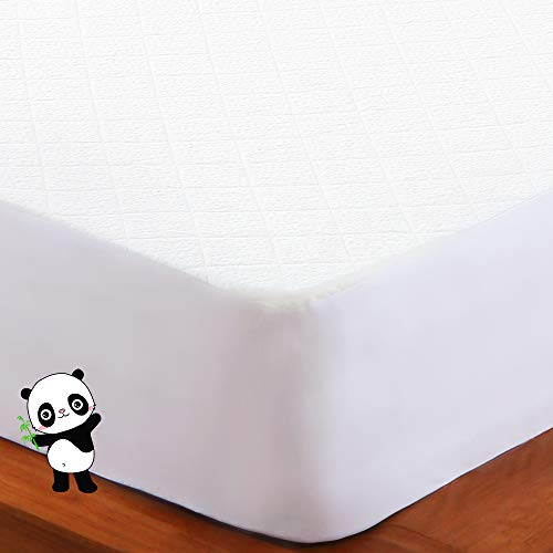BedStory Protector de colchón de Fibra de bambú (160 x 200 x 40)