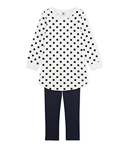 Petit Bateau Girl's Chem.Nuit + Legging SM/L/S 2521640 Pyjama Set, Mehrfarbig (Smoking/Lait/Smoking 40.0), 6