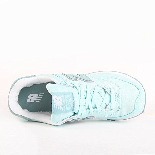 New Balance Wl574swb, Sneakers basses femme Turquoise (Ozone Blue Glo)