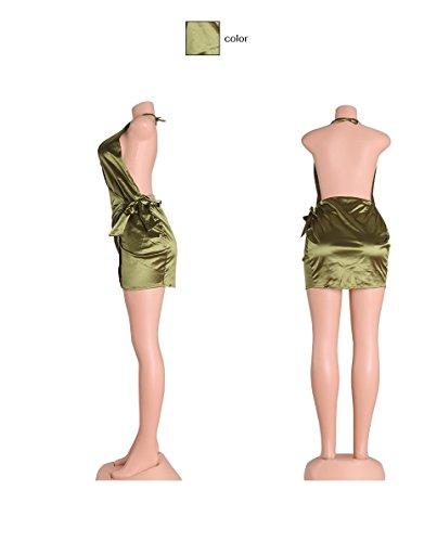 schlinge tief v wieder engen minikleid. grüne