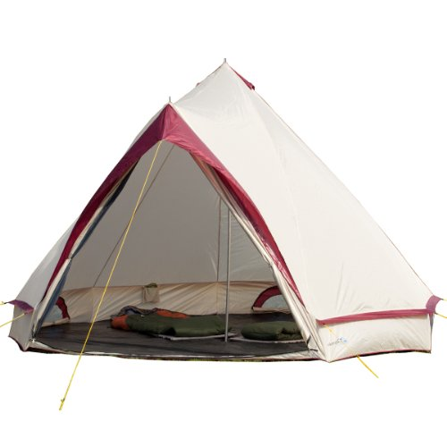 41thOy00mXL. SS500  - Skandika Waterproof Comanche Unisex Outdoor Frame Tent available in Red - 8 Persons