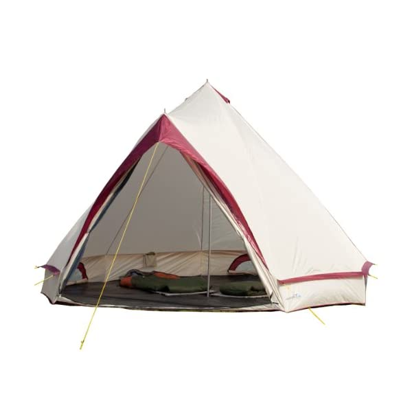 Skandika Waterproof Comanche Unisex Outdoor Frame Tent available in Red - 8 Persons 1