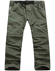 Aeroty Pantalones cortos rápidos para hombre de los hombres Pantalones cortos desmontables para la escalada de senderismo