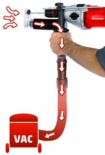 Einhell RT-ID 110 Schlagbohrmaschine, 1.100 W, 2 Gänge, max. Schlagzahl 46.500 min-1, Abnehmbare Staubabsaugvorrichtung, Bohrerdepot im Handgriff - 3