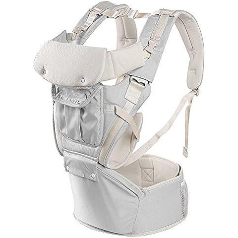 Candora ™ ergonómica portabebés para bebés y niños pequeños 3posiciones de transporte ajustable bebé sling