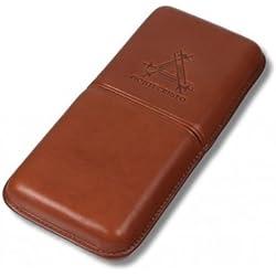 Montecristo marrón funda de piel Cigar (3cigarros)