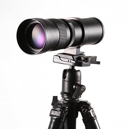 Galleria fotografica Ruili 420-800mm F / 8.3-16 Canon Teleobiettivo Zoom Obiettivo zoom tele ad alta definizione con adattatore per montaggio a T per fotocamere reflex Canon EOS EF ref. Come 1300D 40D 50D 60D 1200D 1100D 1000D 760D 750D 700D 650D 550D 450D 350D
