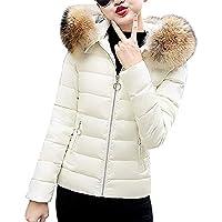 ☺Wintermantel Daunenjacke Damen Übergangs Jacke Premium Outwear Frauen Warm Daunenmantel mit Kapuze Pelzkragen Kurzer Steppjacke Leichte Mantel Oberbekleidung Trenchcoat Winterjacke Parka Jacke