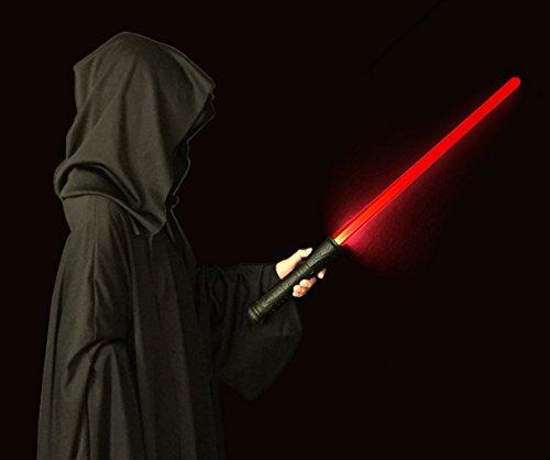 Galaxy FIRE Lichtschwert - DELUXE rotes leuchten Schwert mit echte Einschalt- und Bewegungsklänge, besondere Haltbarkeit und Geschenk-fertig verpackt. Rotes Lichtschwert