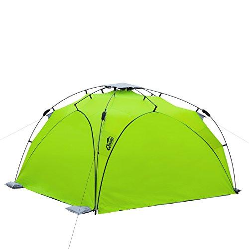 Qeedo - Quick Plane (Set) Familien Strandmuschel mit UV-Schutz (Strandpavillon) - grün mit...