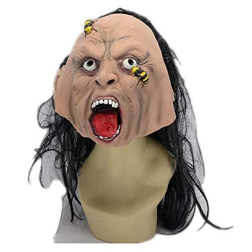 WHLMJ Bee Erschreckende Geistermaske Halloween-Kostüm-Partei-Nachtclub Maske (Frau Bee Kostüm)