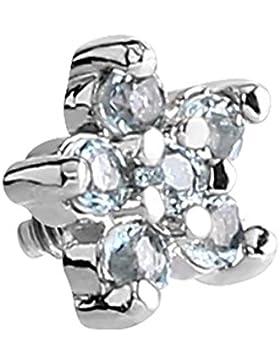 Micro Dermal Anchor Aufsatz. Kristall klar Blume Jeweled–Top Nur. Edelstahl. Für Verwendung Mit interne Gewindeschaft...
