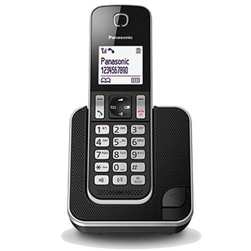 Panasonic KX-TGD310SPB - Teléfono fijo digital (bloqueo de llamadas, hasta 16 horas, modo no molestar), negro