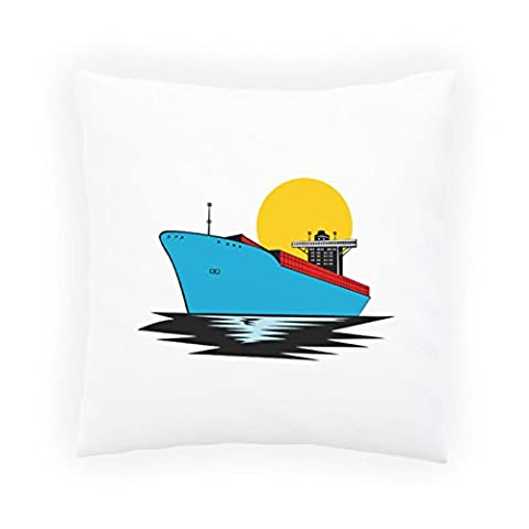 New Container Ship Cargo Boat Retro Decorative Pillow , Cushion