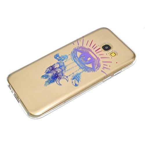 Vandot 3 X Housse pour Samsung Galaxy A3 2017 Beau Motif Plumes Etui [3PCS] TPU Silicone Doux Transparent Coque pour Samsung Galaxy A3 2017 Anti-choc Anti-scratch Ultra-mince Ultraléger Coquille Cas d YJXL-01