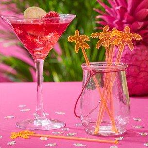 Ginger Ray palmier Flamant rose Boisson Cocktail agitateurs X 15Idéal pour les fêtes, les barbecues d