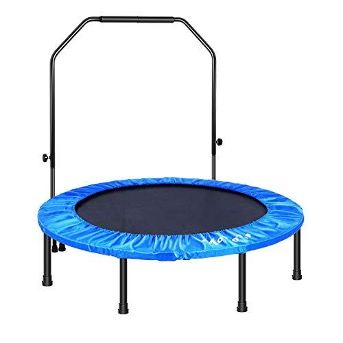 MOVTOTOP Fitness Trampolin, Indoor Trampolin Faltbar Klappbare, Trampolin für Kinder & Erwachsene (48 inch)
