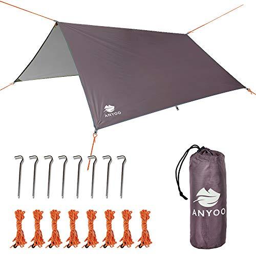 Anyoo Tarp Shelter Impermeable Ligera Hamaca Rain Fly 3 X 3 m...