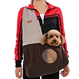 FOONEE Pet Carrier per cani di piccola taglia e Puppy, PET Sling Carrier regolabile, confortevole e lavabile a tracolla Pet Travel Carrier Brown