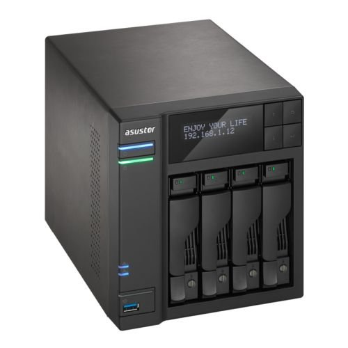 Asustor AS6204T 4-Bay NAS System (Intel Celeron, 4GB RAM,...