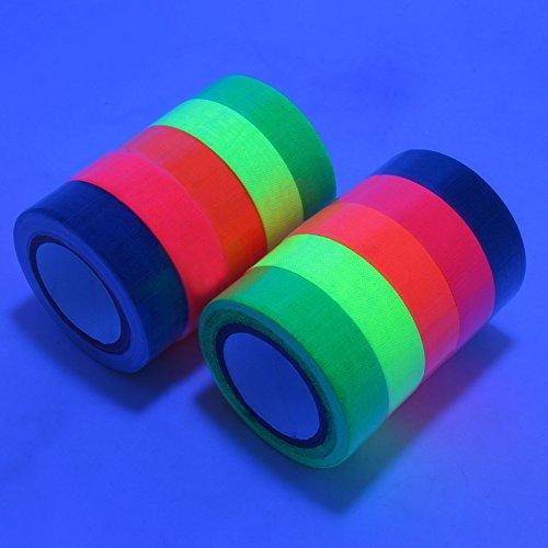 , UV-Schwarzlicht fluoreszierend Tape/Neon Gaffer Tape (10 Block /5colors)(15mm x 5 m) (Neon-blacklight)
