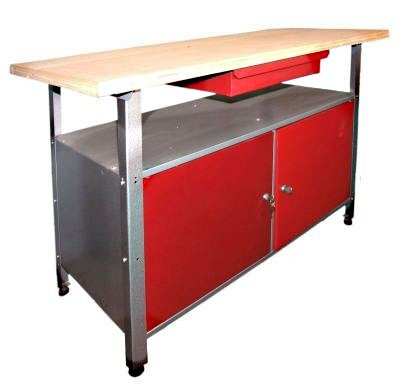Werkstatteinrichtung, Ordnungssystem bestehend aus einer Werkbank und einem Werkstattschrank - 2