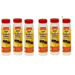 RENTOKIL Poudre insecticide Contre fourmis & PSA134 insectes 150 g Lot de 6