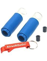 2X Madbull 60 Degree Shark Accelerator Hopup Bucking + Spacer para Airsoft AEG (B) - AirsoftGoGo Llavero Incluido