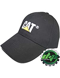 CAT Logo Caterpillar Solid Black Trucker hat Truck Diesel Equipment Gear Cap 2b6821701884