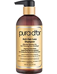 Pura d'or Shampoo por la perte de cheveux (Gold Label), 16 Fluid Ounce par pura d'or [Beauté]