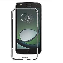 Bracevor Flexible Shockproof Moto Z Play TPU Back Case Cover : Cushioned Edges, Premium Design - Transparent