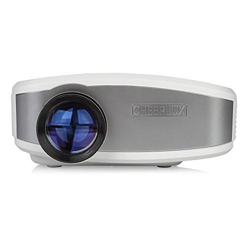 CHEERLUX 1080P HD C6 LED 1200:1 1200 Lumen LCD Projektor Heimkino HDMI USB VGA AV ATV Beamer 50000 Stunden Mit Fernbedienung