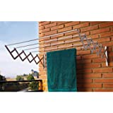 Ngel Cloth Dryer Stand with 5 Lines/Clothesline for Aluminum Wall Or Balcony/Wall Mounted Clothes Drying Rack