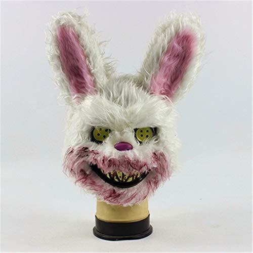 Bunny Kostüm Scary - GYJ Scary Halloween Bunny Mask Kopfmaske, Creepy Killer Spooky Kostüm, es ist robust und komfortabel geeignet für Langzeitabnutzung