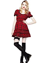 Hell Bunny Kleid MAVIS DRESS red london-tartan