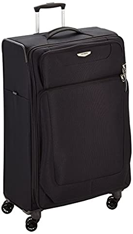 SAMSONITE SPARK Spinner Expandable 79cm/29inch BLACK 4 Wheel Suitcase