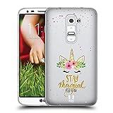 Head Case Designs Magique Fleurs De Licorne Coque en Gel Doux Compatible avec LG G2 /...