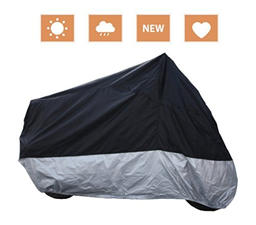Motorbike Cover 210D Oxford Fabric NOVSIGHT Motorcycle Cover Heavy Duty Waterproof Rain Dust UV Protective Storage Indoor /& Outdoor 2000Pa Resistant Water XXL 265*105*125cm//104.3*41.3*49.2inch