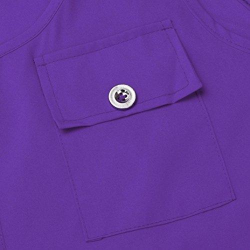 LONUPAZZ Débardeurs Femme Été Casual sans Manches Bretelle Lâche Tank Top T-Shirt Tee Blouse Plus Size S-5XL Violet