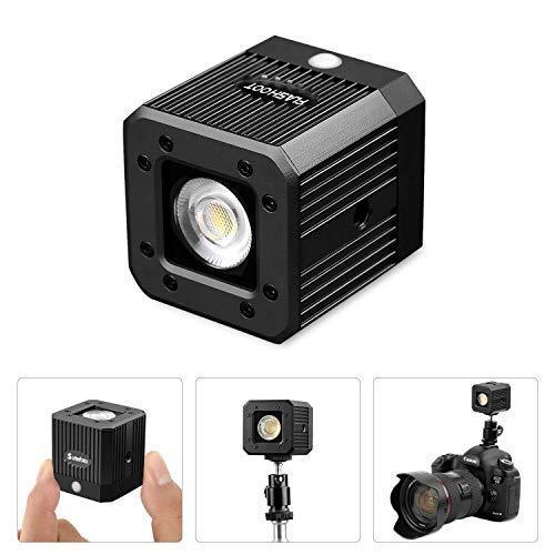 fotowelt Recargable Cubo luz Video con iluminación de Ciclismo para Acampar para teléfonos Inteligentes, dji Drone, DSLR cámaras y cámaras de acción- 20M a Prueba de Agua