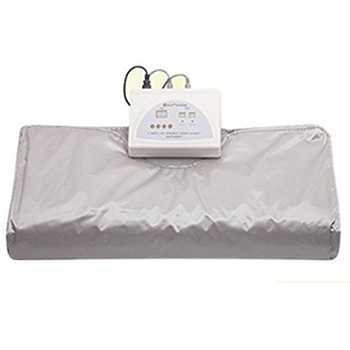 SPORT&SAUNA Sauna Decke Far Infrarot Sauna Decke Body Shaper Gewichtsverlust Sauna Abnehmen Decke Detox-Therapie-Maschine Für Personal Spa,Silver