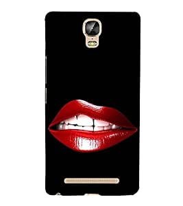 iFasho Designer Back Case Cover for Gionee Marathon M5 Plus (Lips Fair And Lovely Love Express Bengali Movie J Love Dress)